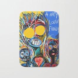 A Happy Loving Family Street Art Graffiti Bath Mat