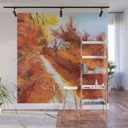 Autumn Barn Wall Mural
