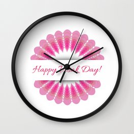 Vesak day with pink lotus. Lotus is associated with fortune according to Buddhism Wall Clock