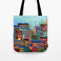 three of the possessed Tote Bags featuring Three by Valeriya Volkova
