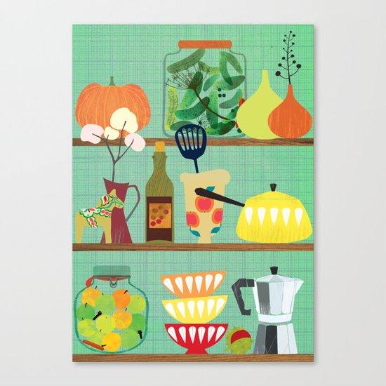 kitchen shelf 02 Canvas Print