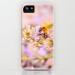 Summer Bumble Bee Lavender Beauty iPhone Case