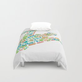 Surf Turtle Duvet Cover