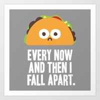 taco Art Prints featuring Taco Eclipse of the Heart by David Olenick