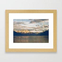 Yet another lake & mountain landscape | 2 Framed Art Print