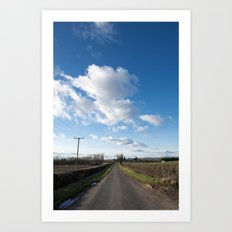 many miles of sky... Art Print