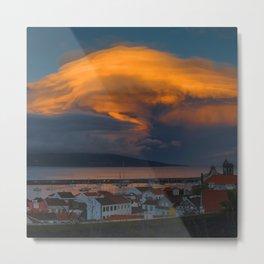 Storm Over Pico Metal Print