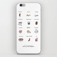 Foods of the Bluths iPhone & iPod Skin
