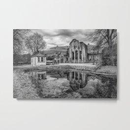 Abbey Reflection Metal Print