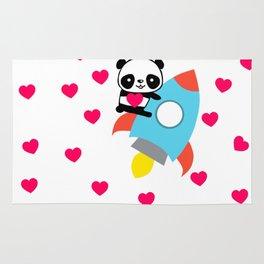Rocketpanda in Love Rug
