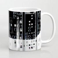 street Mugs featuring Street by Lynsey Ledray