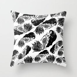 Mermaids Gathering Throw Pillow