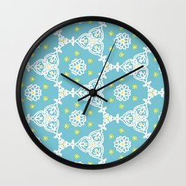Lacy Blue Wall Clock