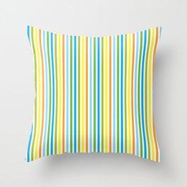 Colourful Pinstripes Throw Pillow