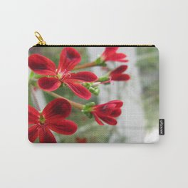 Red Pelargonium Carry-All Pouch