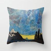 battlestar galactica Throw Pillows featuring Galactica by LightsavoursCorner