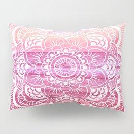 Water Mandala Hot Pink Fuchsia Pillow Sham