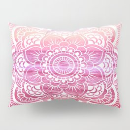 Water Mandala Hot Pink Fuchsia Pillow Sham