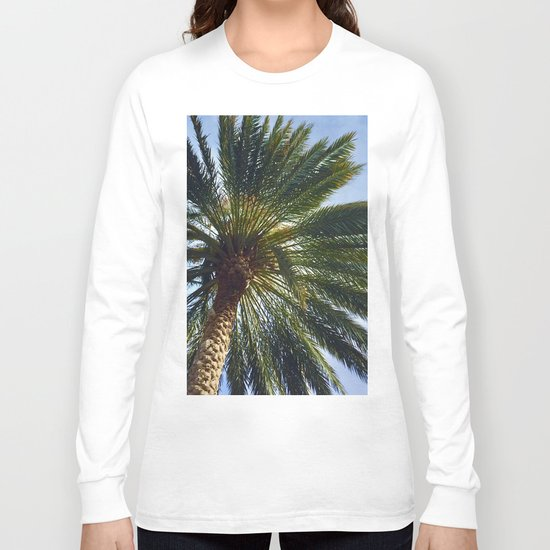 The Wonder of the Palm Tree Above Long Sleeve T-shirt