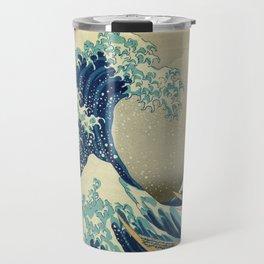 The Great Wave Off Kanagawa by Katsushika Hokusai (c. 1830) Travel Mug