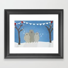 Winter Bears Framed Art Print
