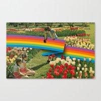 polaroid Canvas Prints featuring Polaroid by Blaz Rojs