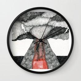 robot volcano Wall Clock