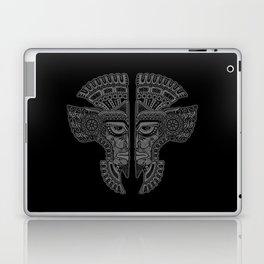 Gray and Black Aztec Twins Mask Illusion Laptop & iPad Skin