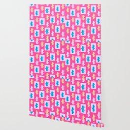 Cacti in pink Wallpaper