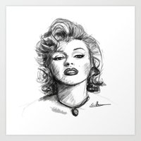 marylin monroe Art Prints featuring Marylin Monroe.... by Emiliano Morciano (Ateyo)