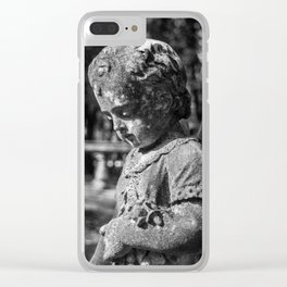 Angel Child Statue Clear iPhone Case