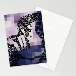Kanji Calligraphy Art :woman's face #39 Stationery Cards