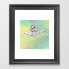 Green Cosmo Framed Art Print