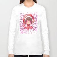 chibi Long Sleeve T-shirts featuring Chibi Sakura by Neo Crystal Tokyo