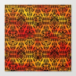 Pattern with African Mask Canvas Print