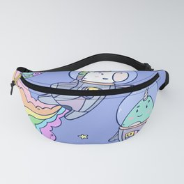 Space Unicorn and Narwhal Fanny Pack