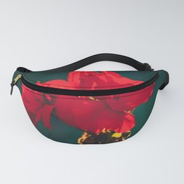 Red Flowers Fanny Pack