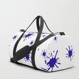 blue spots on white background Duffle Bag