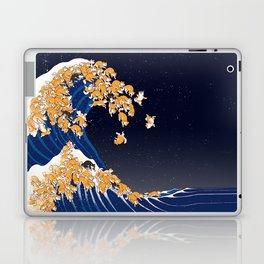 Shiba Inu The Great Wave in Night Laptop & iPad Skin