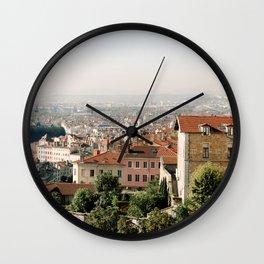 Lyon at Sunrise Wall Clock
