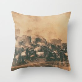 Wild Life in a Hurry Throw Pillow