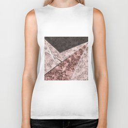 Marble . Combined abstract pattern . Biker Tank