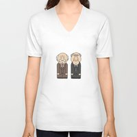 muppets V-neck T-shirts featuring Statler & Waldorf – The Muppets by Big Purple Glasses