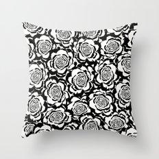 Rosaline: Black Ivory/White Throw Pillow