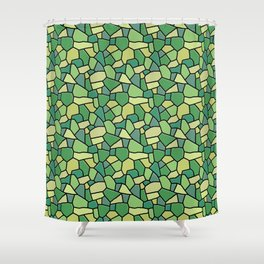 Stained Glass Green Shower Curtain
