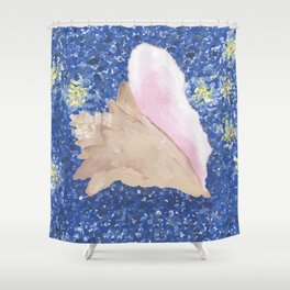 Conch Republic Flag Painting Shower Curtain