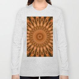 Pretty copper mandala Long Sleeve T-shirt