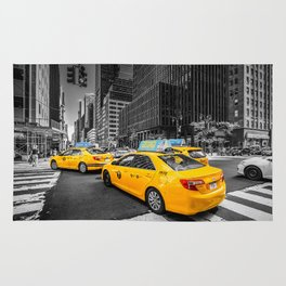 Yellow Cabs Rug