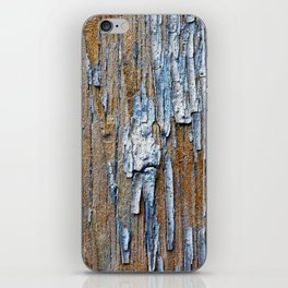 Old painted wooden plank iPhone Skin