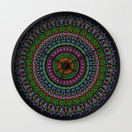 Hypnotic Church Window Mandala Wall Clock
